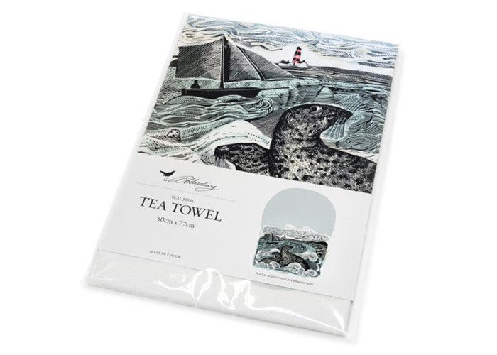 Angela Harding Seal Song Tea Towel