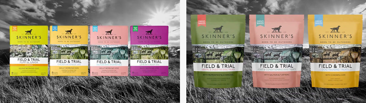 Skinners Dog Food Packaging Illustrations by Angela Harding