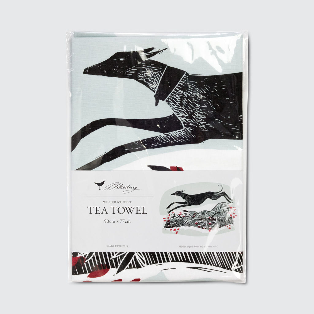 Winter Whippet Tea Towel