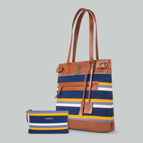 Medium Tote Blue Lagoon
