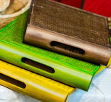 Bamboo Twin Tray Small- Green