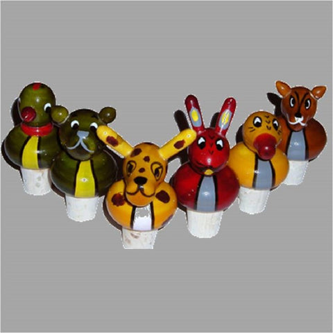 Wine stopper and opener Animals