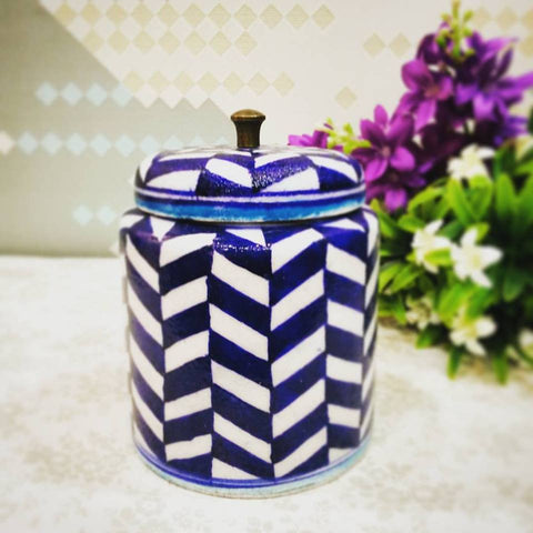 Decorative Jar Dark Blue