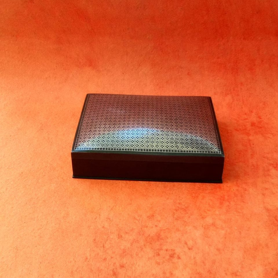 Bidri Box With Full National Design 7""