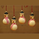Wooden Christmas Decor : SNOW MAN ( Set of 4)