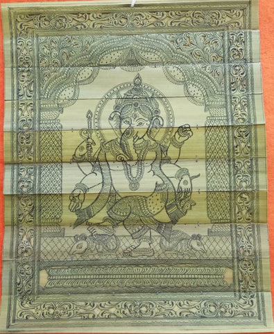 Lord Ganesha - Palm Pattachitra