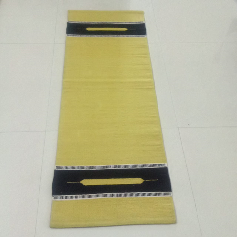 Yellow Organic Cotton Yoga Mat