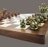 Indian Maharaja Chess Pieces- Painted