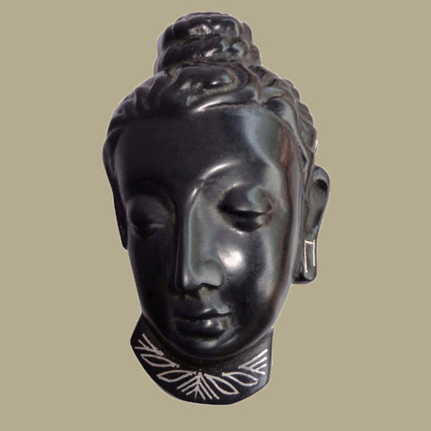 Silver Inlaid Lord Buddha Face
