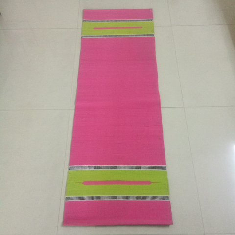 Pink Organic Cotton Yoga Mat
