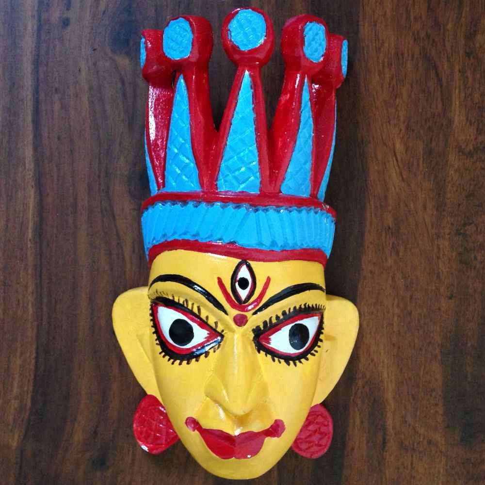 Wooden Durga Mask Small