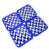 Vertical Zigzag Coaster Set of 4