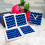 Horizontal Zigzag Coaster Set of 4