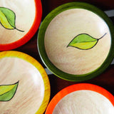Hasiru Round Leaf Coasters Set of 4