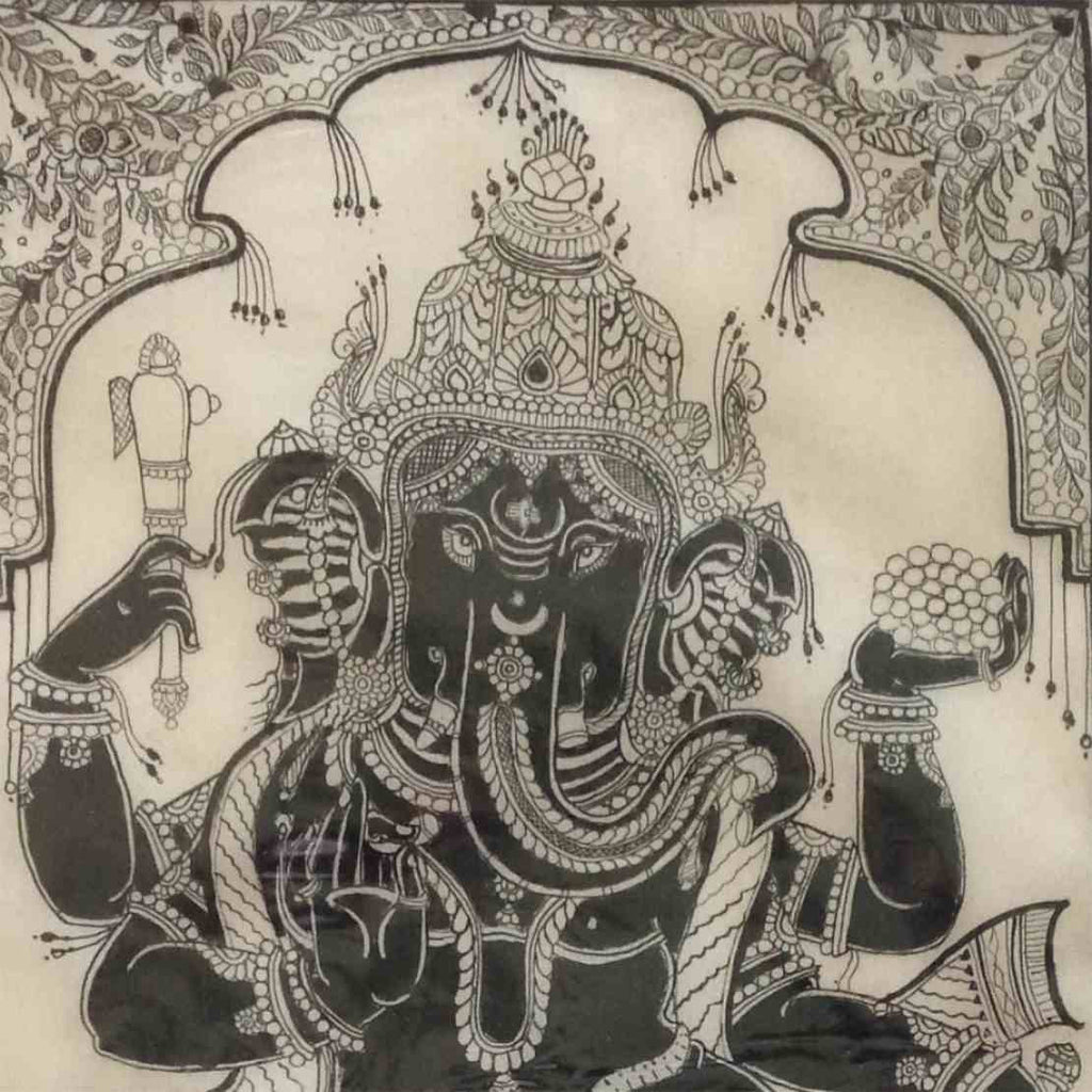 Ganesha – Pattachitra on Tussar Silk