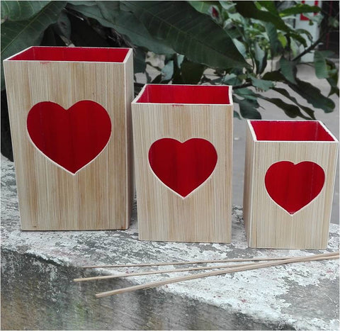 Heart T-light Candle Holders Set of 3