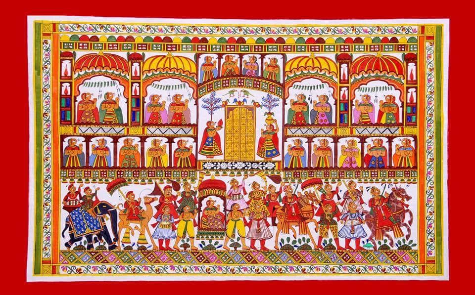 Queen Marriage Doli Phad Painting