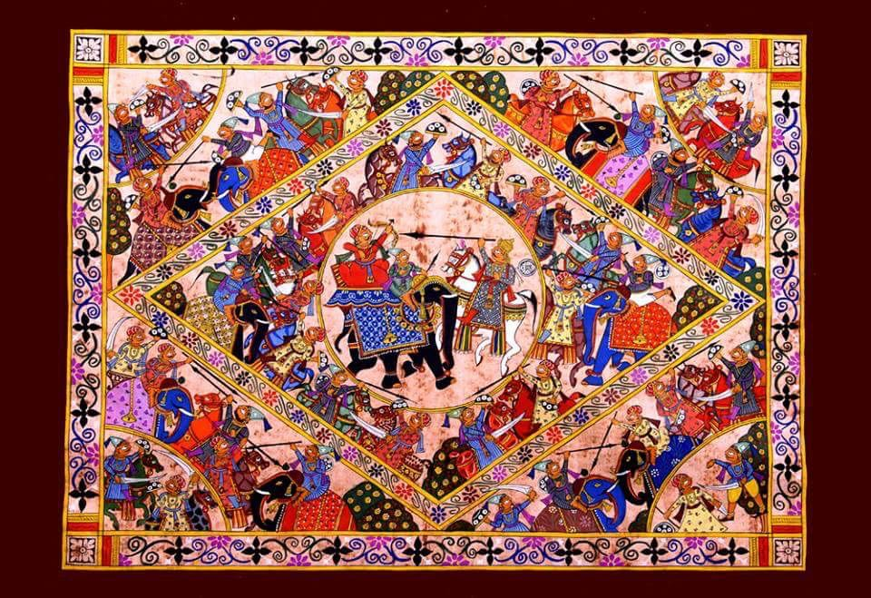 Battle of Haldigati Phad Painting