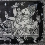 Ganesha with Queen- Odisha Pattachitra on Silk