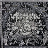 Dancing 5 Faces Ganesha - Odisha Pattachitra on Canvas