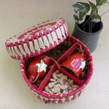Dry Fruits in Palm Leaf Box