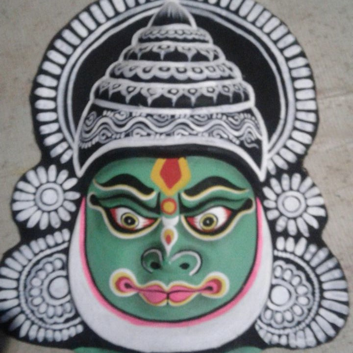 Kathakali Chhau Mask Big (Green)
