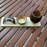 Coconut Shell Pen Stand and Card Holder