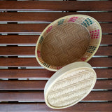 Oval  Coloured Bamboo Box