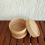 Small  Round net  Bamboo Box