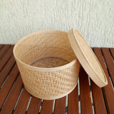 Round Bamboo Box (Set of 4)