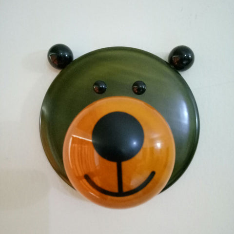Wooden Bear Hat Wall Hooks