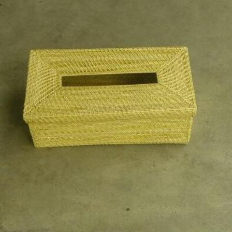 "Golden Grass Tissue Box (10"" x 6"" x 3"")"