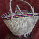 V Shaped Kauna Colour Striped Handbag