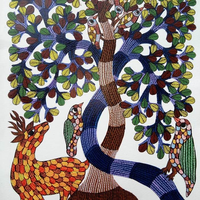 Tree of Life 4 Gond Painting