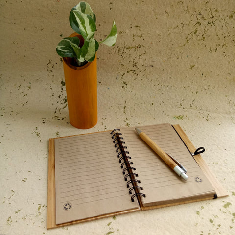 Bamboo Notepad with Pen