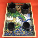 Peacock Tray of MDF Board