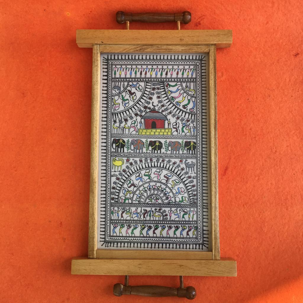 Pattachitra Hand Painted Tray 1