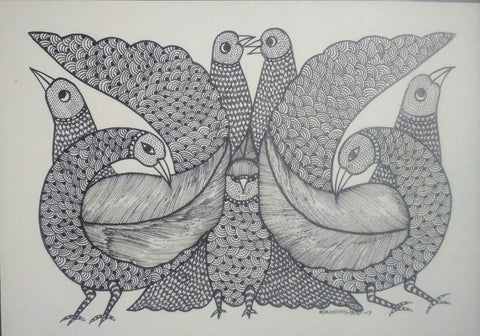 A Flock of Birds & A Owl