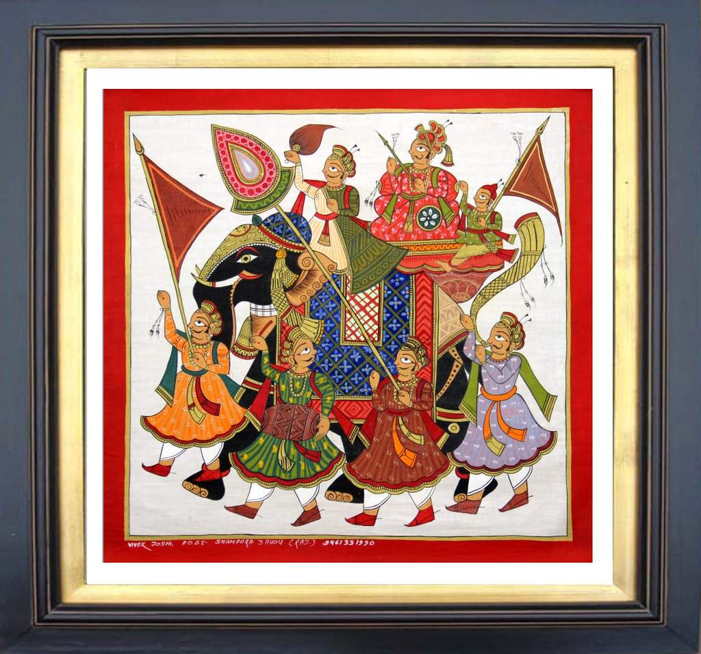 Prince Procession Phad Painting