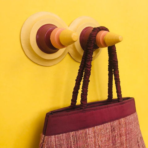 Trikone Khunti (Double) Wall Hanger Coloured