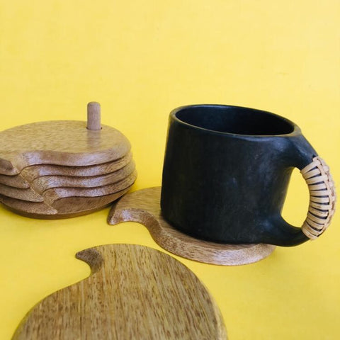 Mango Coasters - Set of 6 (Natural)
