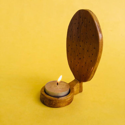 Jackfruit (Reverse) Jali Tea light (Light Coloured)