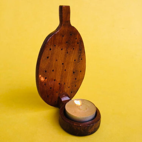 Jackfruit Jali Tea light (Dark Coloured)