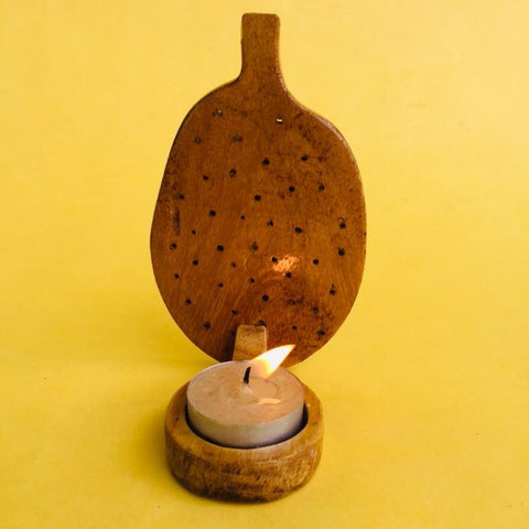 Jackfruit Jali Tea light (Light Coloured)