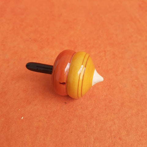 Wooden Onion Spinning Top Single