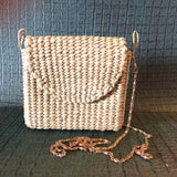 Kauna handcrafted Cross bag with metal chain