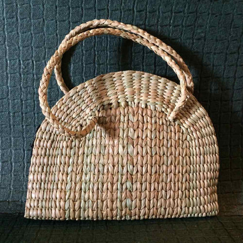 Handcrafted Kauna Semi-circle Handbag