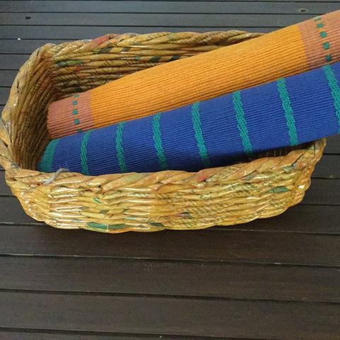 Mustard Rectangle Basket