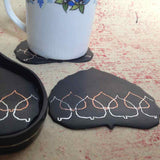 Leaf Shaped Tea Coasters (Set of 4)