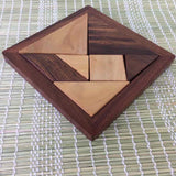 Handmade Wooden TANGRAM 7 pieces Puzzle